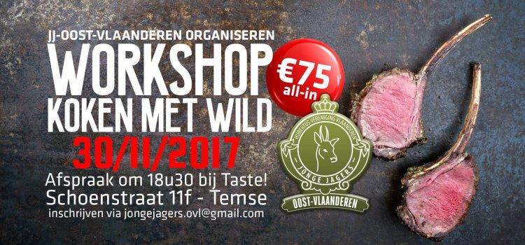 Kookworkshop samen met Taste! en Jonge Jagers Oost-Vlaanderen