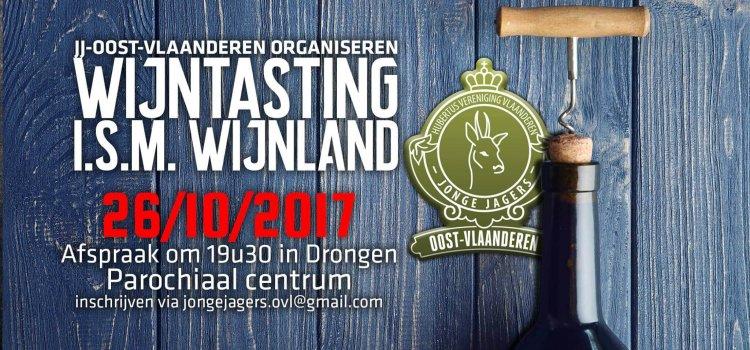 Wijndegustatie Jong Jagers Oost-Vlaanderen