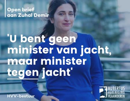 Jachtsector schrijft open brief aan Zuhal Demir: 'U ben geen minister van Jacht, u bent minister tegen Jacht'